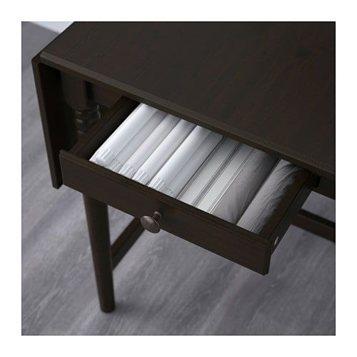 Ingatorp Drop Leaf Table Black Brown 25 5 8 48 3 8x30 3 4