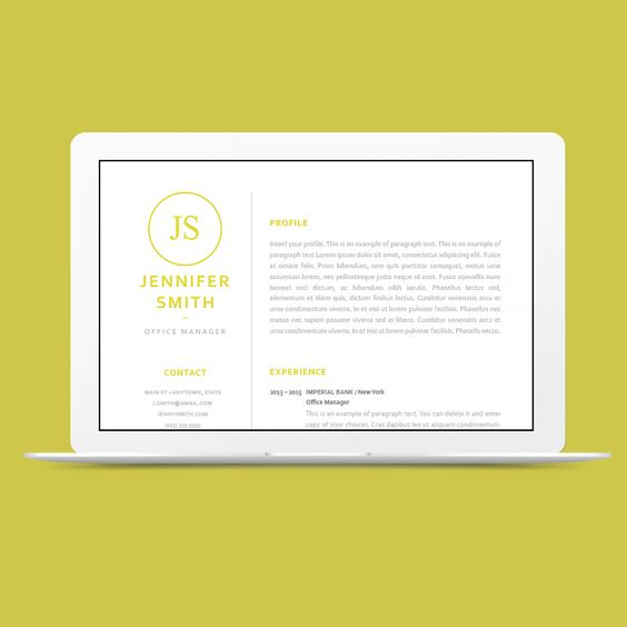 Resume template 120050 - Classic Resume Templates - CVSHOP #cvshop - classic resume design