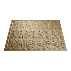 Possible Backsplash: $20.57  Fasade 24-1/2-in Argent Gold Thermoplastic Multipurpose Backsplash