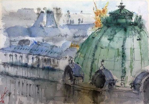 Opera de Paris dedes las Galerías LaFayette, Jacques Villares.