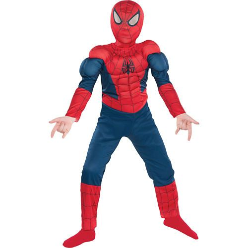 Boys Classic Spider,Man Muscle Costume