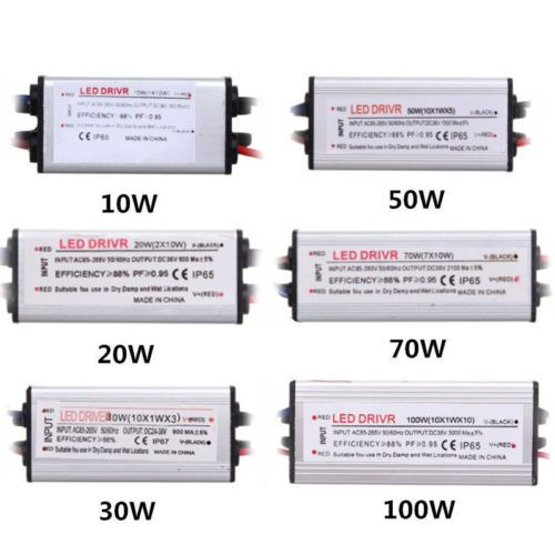 Led Driver Power Supply Transformer 100w 50w 30w 20w 10w Constant Current Ip65 Led Drivers Led Power Supply Power Supply