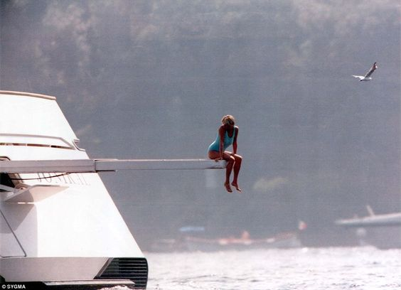 Iconic: Princess Diana holidayed with Al Fayed's son Dodi on the boat, previously known as...