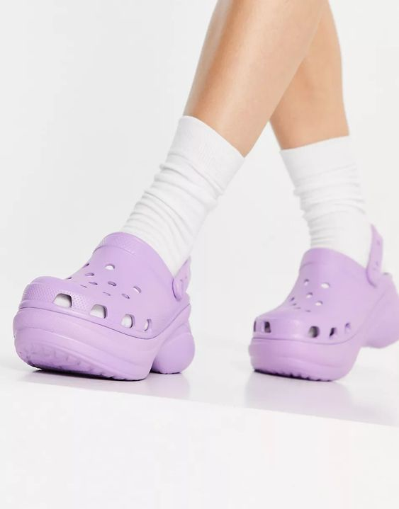 Crocs Bae platform clog in lilac   ASOS