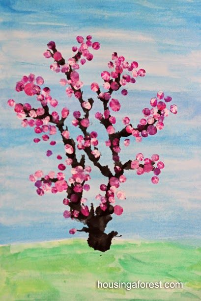 Frogs and Snails and Puppy Dog Tail (FSPDT): Creative Cherry Blossom Tree Crafts for Kids