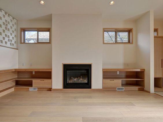 Nice cedar built ins