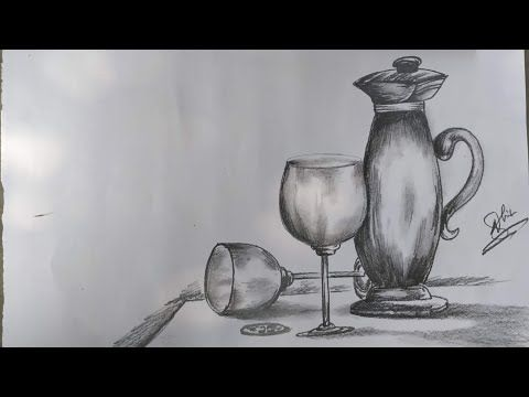Still Life Still Life Drawing For Kids Step By Step By Pencil Sketch Ever Art Youtube In 2020 Still Life Drawing Life Drawing Still Life Sketch