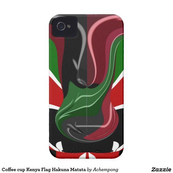 Bandeira Hakuna Matata de Kenya do copo de café #Eletrônicos & #Capas Personalizadas > Capas   Capas para iPhone  Capas para #iPhone4  Capas para #iPhone 4 Loja Linha Zazzle #Achempong