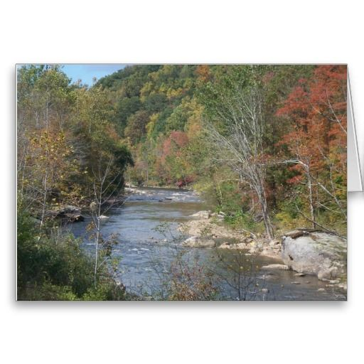 Breathtaking West Virginia River Cards  This card is fully customizable from moving around the picture to adding your own thoughts!