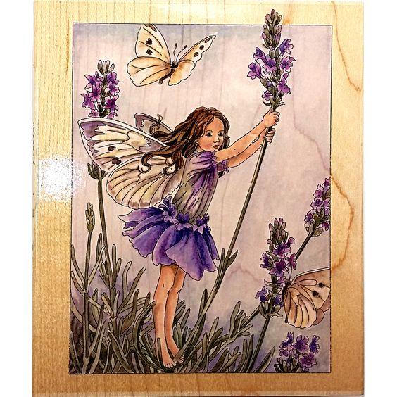 Lavender Flower Fairy Rubber Stamp 90021 Fairies Scrapbooking Stamps Happen c1523