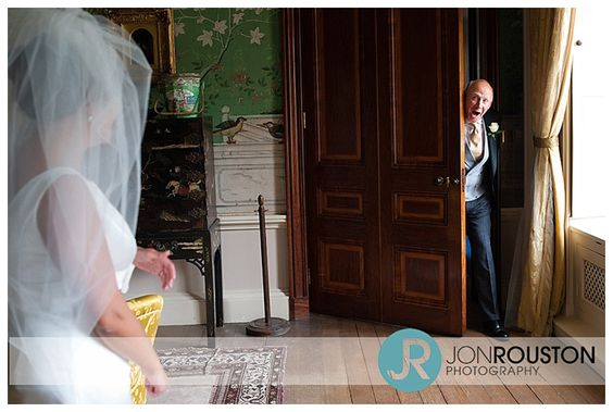 This is a great shot of the bride's father seeing his little girl! #weddings, #wedding photography