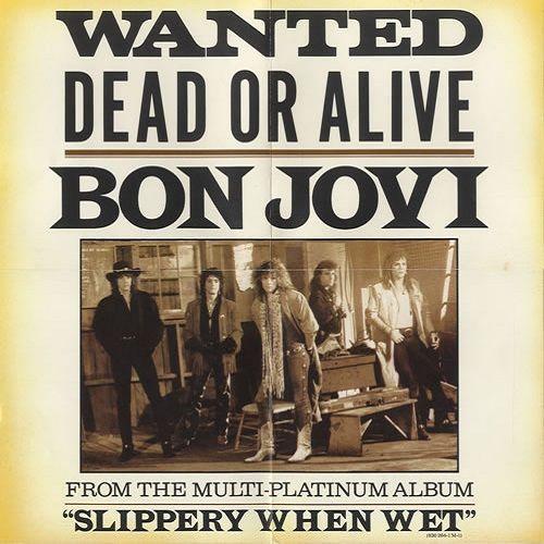 Bon Jovi – Wanted Dead or Alive (single cover art)