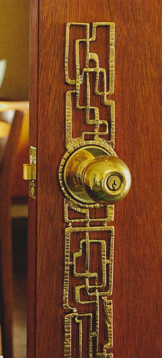 Mid century door hardware google search who knew this for 1950s front door styles