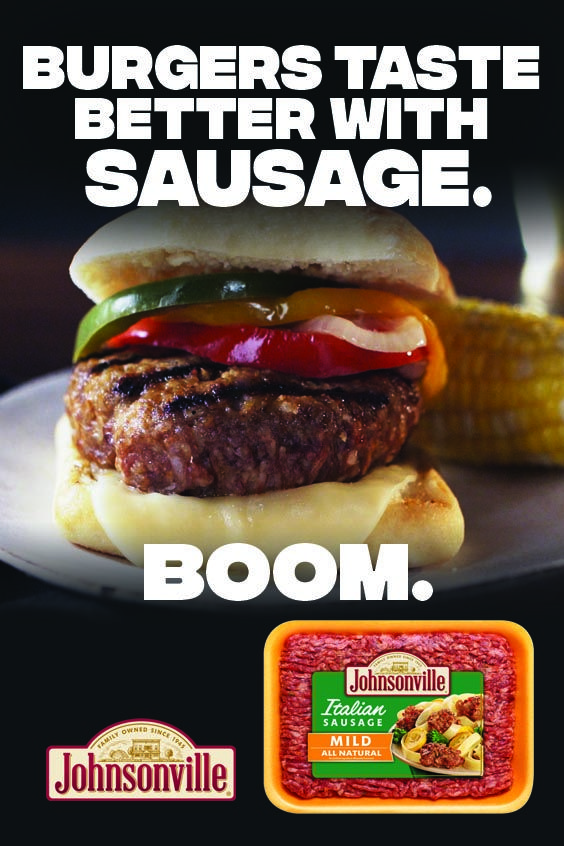 Italian All Natural Ground Sausage Burger In 2020 Johnsonville Sausage Recipes Ground Sausage Sausage Burgers