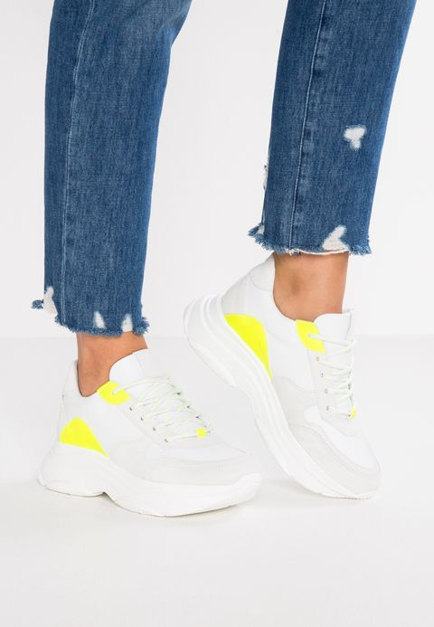 Steve Madden ZELA Baskets basses yellowwhite ZALANDO