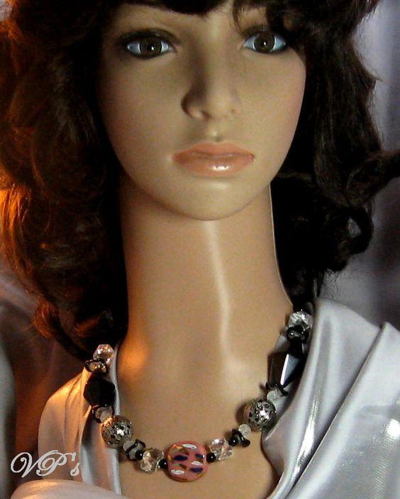 Kazuri Necklace in Peach, Quartz  Classic Great Price $190 Shop today VP's Jewelry Boutique
