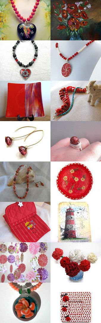 STATteam Treasures in Red by Marcia McKinzie on Etsy--Pinned with TreasuryPin.com