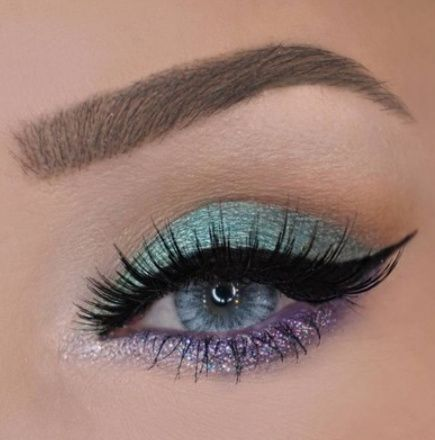 Pretty eye makeup in pastel and gold #eyemakeup #makeup #eyeshadow