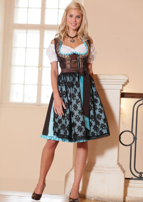 Dirndl, Traditional German Beautiful, outfits & jewelry