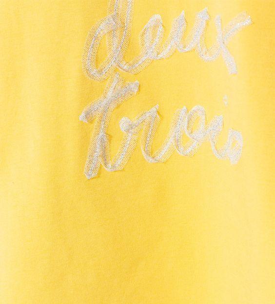 Imagem 5 de T-shirt com bordado em tule e brilhos da Zara