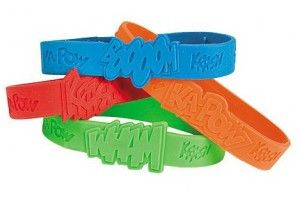 Super Hero Sayings Rubber Bracelets | 12ct - $5.70