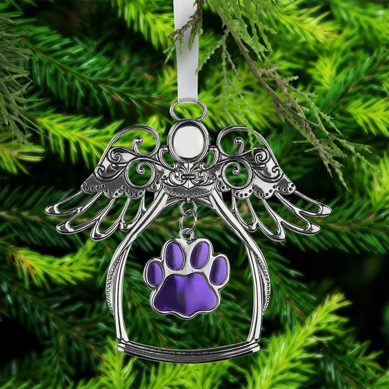 Purple Paw Angelic Ornament at The Animal Rescue Site