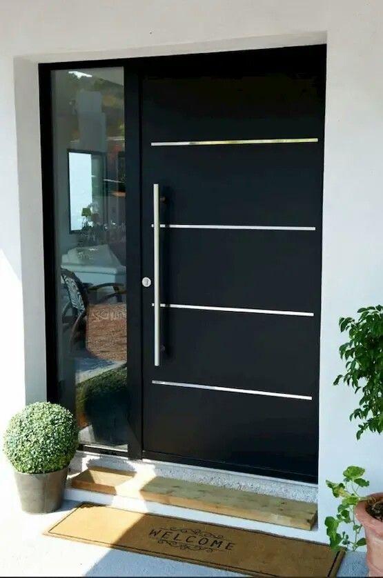 ابواب المنيوم للمداخل الرئيسية و الحمامات أفخم 11 تصميم سيعجبك ابواب Doors Interior Modern Contemporary Front Doors Door Design Modern