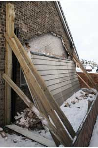Collapsed canopies in Scotland Dundee. Scotland can have heavy falls of snow and high winds. Canopies need to be from a professional company.