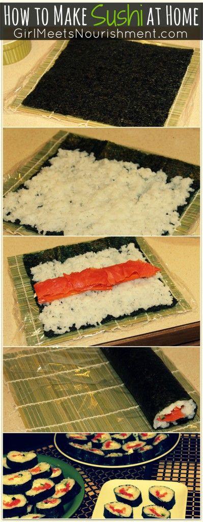 Learn How to Make Sushi at Home - Girl Meets Nourishment | http://girlmeetsnourishment.com/gmnwordpress1/make-sushi-at-home/