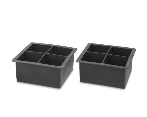 King Cube Silicone Ice Cube Trays...one very large cube for your single malt scotch...or encase a single berry with a leaf of mint or a strip of zest to make a beverage more special.   Wait!...or as a mold for making fizzy bath salts for Christmas Gifts!