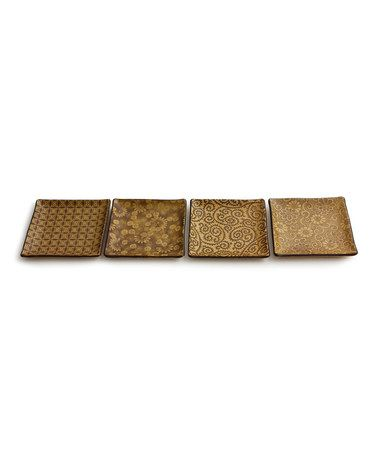 Loving this Sepia Square Plate Set on #zulily! #zulilyfinds