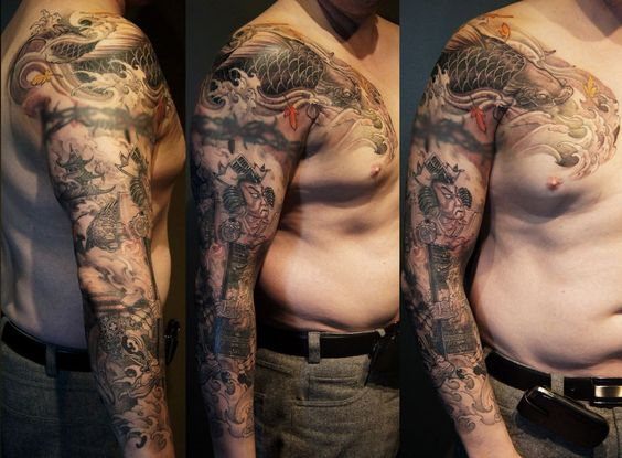 Chronic ink tattoos toronto tattoo tony samurai and for Barb wire tattoo sleeve