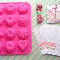 Forma de silicone para doces com kit de 5 embalagens: