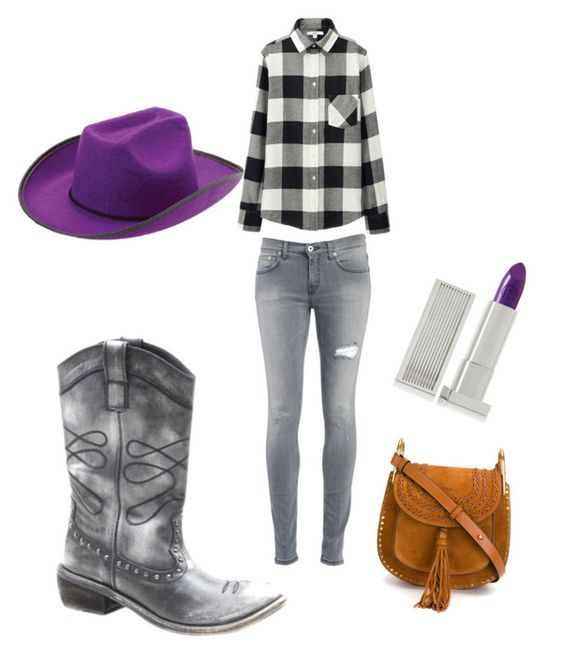 """Cowgirl"" by redheadqueen1 ❤ liked on Polyvore featuring Diba, Uniqlo, Dondup, Chloé and Lipstick Queen"
