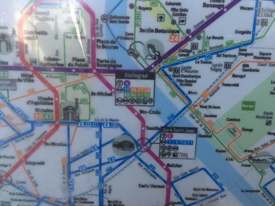 Карта транспорта на остановке