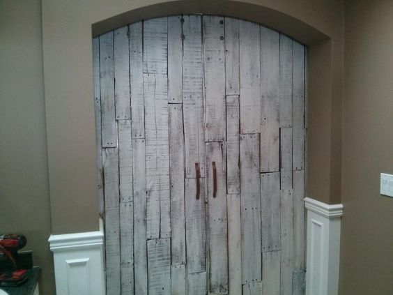 Bi Parting Reclaimed Wood Doors By Goatgear Designed And Handcrafted In Kelowna Interior