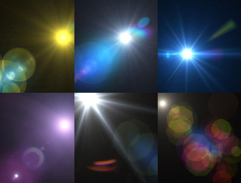 A free texture pack of skies and lens flare from Dawghouse Design Studios