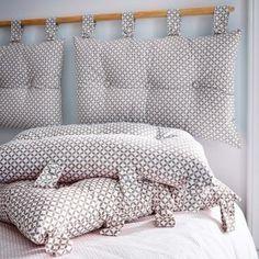 Coussin tête de lit Maory mastic 45x70cm