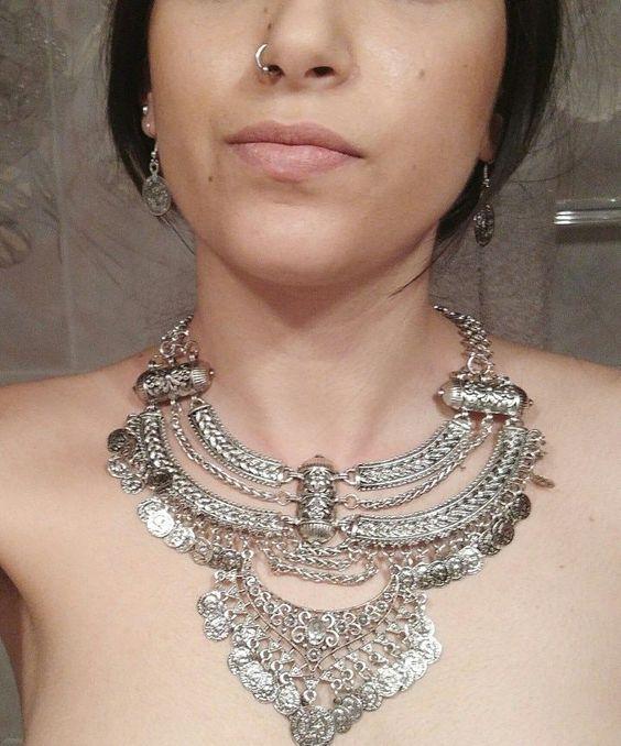 Tribal inspired tassel necklace