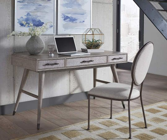 Just Home Faux Marble White Desk Big Lots In 2020 Desk With Drawers Home Grey Oak