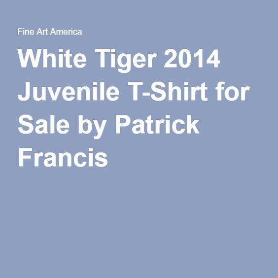 Patrick Francis - White Tiger Designer Juvenile T-Shirt by Patrick Francis