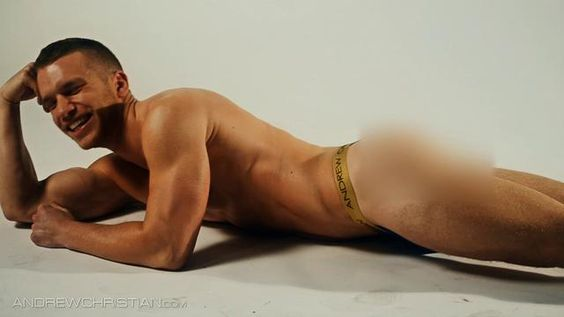 Censored Version: Andrew Christian photo shoot with Jake Andrews