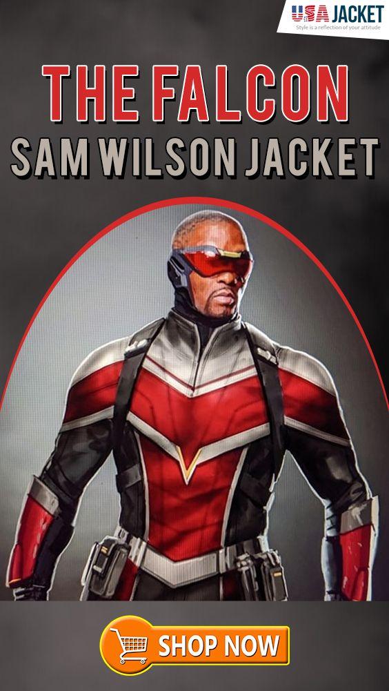 The Falcon And The Winter Soldier Falcon Jacket Usajacket Winter Soldier Soldier Dark Grey Color