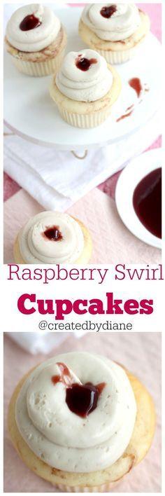 Raspberry Swirl Cupcakes from @createdbydiane