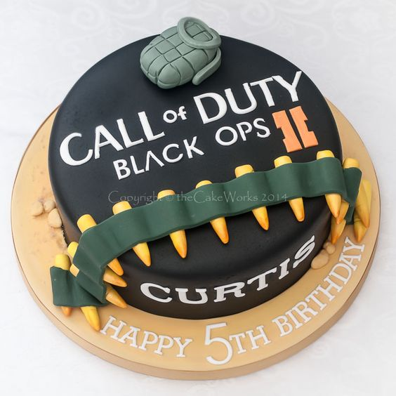 Birthday cakes for Boys - | the Cake Works Call of Duty cake