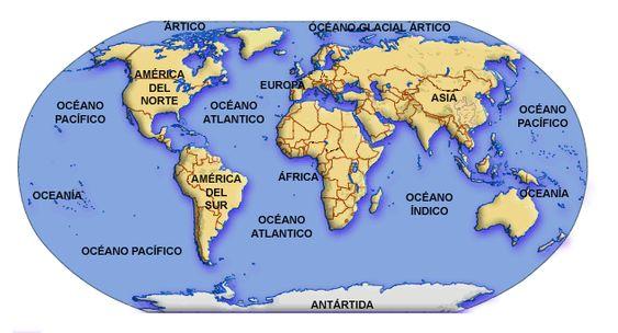 MAPAMUNDI  Mapamundi Continente y Mapas del mundo