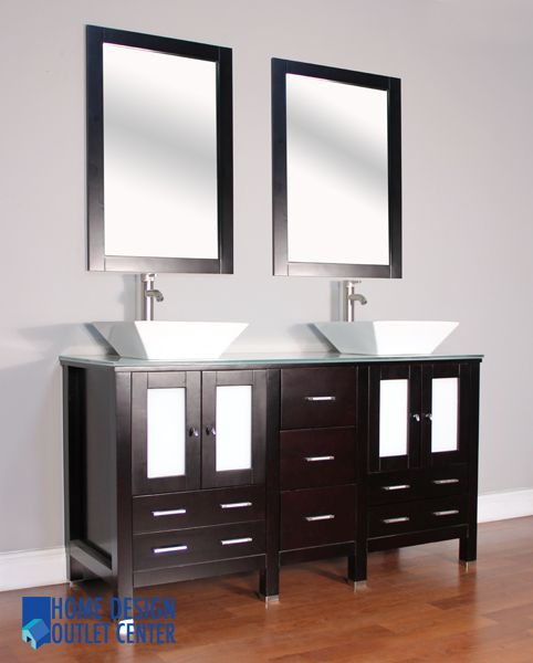 This product has the features like espresso colored cabinet, tempered glass made countertop, two porcelain sinks, and popup drain assembly – all are suitable for your bathroom remodeling.