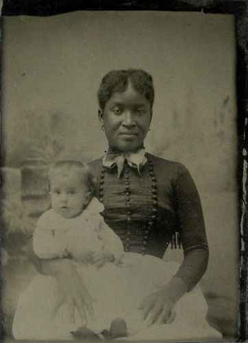 Rare Tin Type1860 61 Civil War Era African American Nanny Slave Amp White Baby Civil Wars
