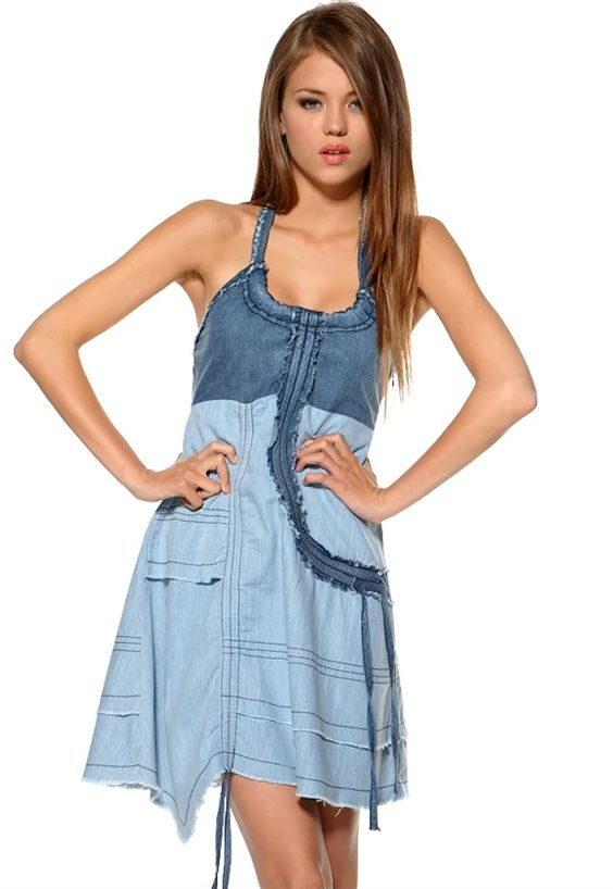 Cute denim dress: