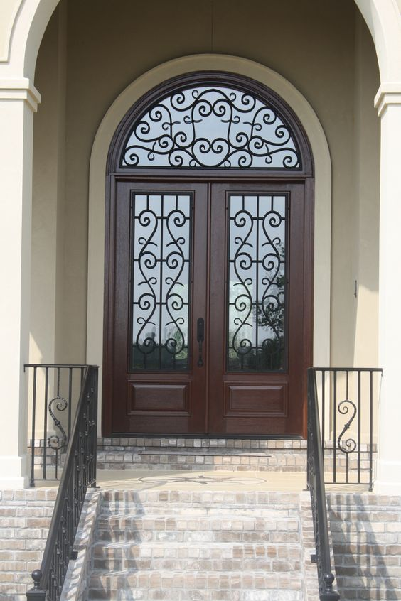 Wrought iron doors iron doors and an eye on pinterest for Design your own front door